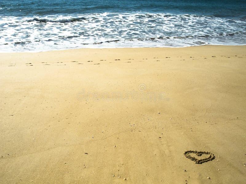 влюбленность пляжа i стоковая фотография rf