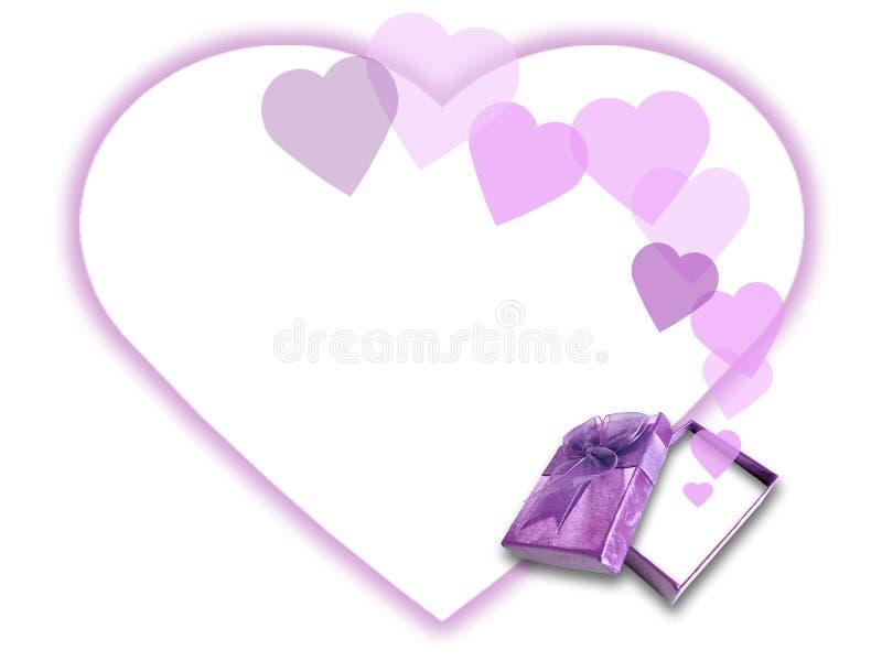 влюбленность подарка коробки иллюстрация штока