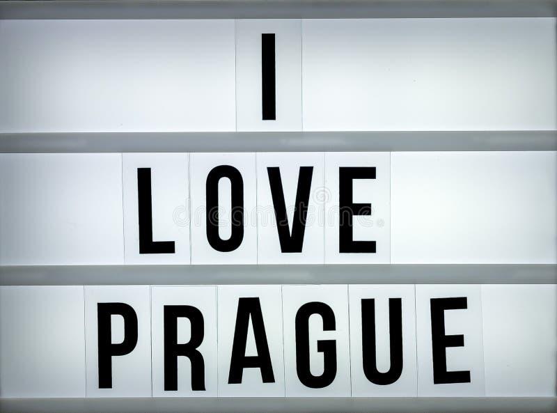 Влюбленность Прага светлой коробки i стоковая фотография