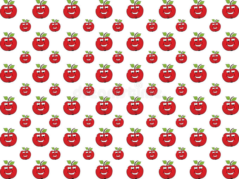 влюбленность предпосылки яблока иллюстрация штока