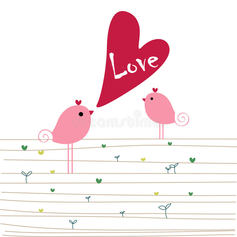 влюбленность птиц бесплатная иллюстрация