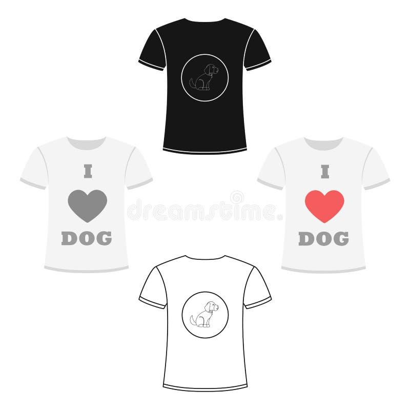 Влюбленность рубашки i выслеживает значок вектора в стиле шаржа для сети бесплатная иллюстрация