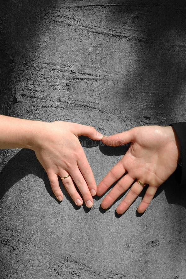 влюбленность рук стоковая фотография rf