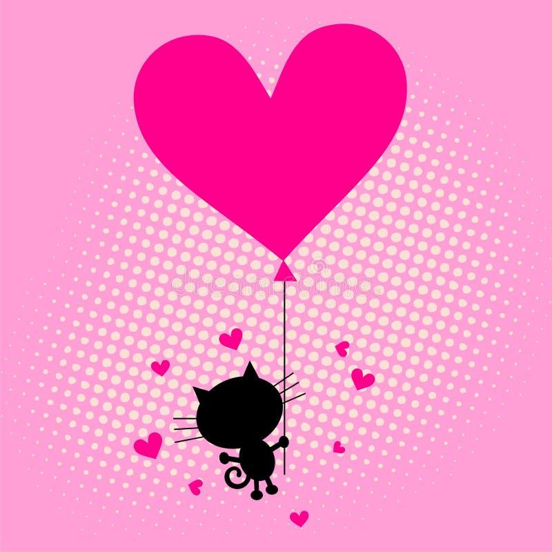 влюбленность сердца карточки иллюстрация вектора