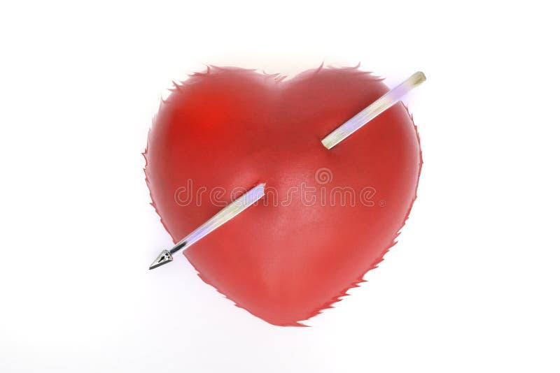 влюбленность сердца нападения шальная стоковое изображение rf
