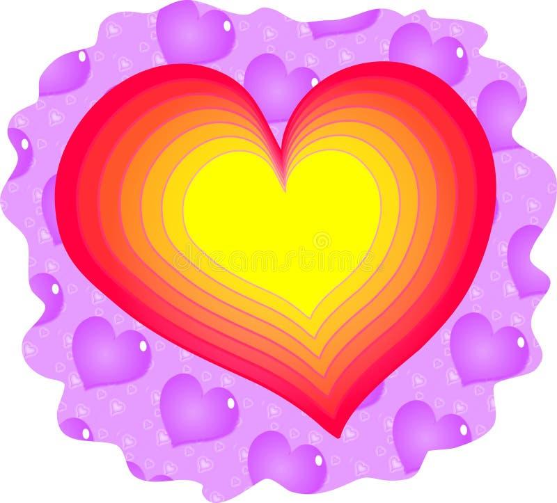 влюбленность сердца иллюстрация штока