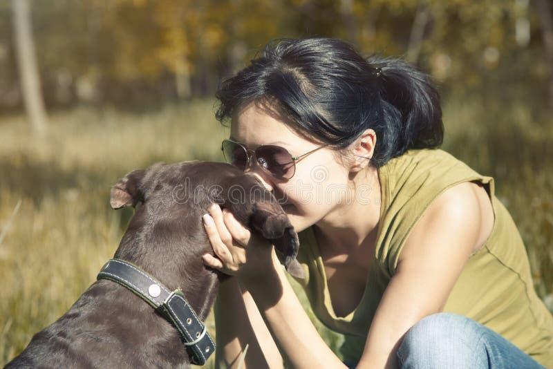 влюбленность собаки моя стоковые изображения