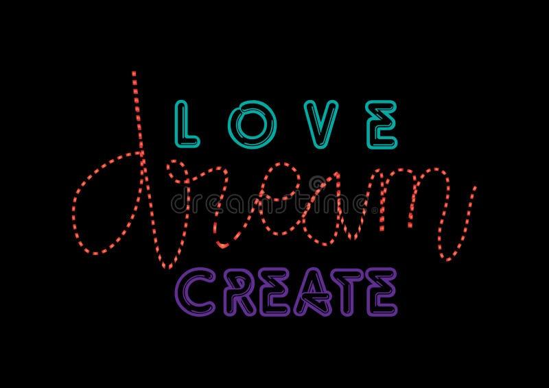 Влюбленность создается воодушевляет иллюстрация вектора