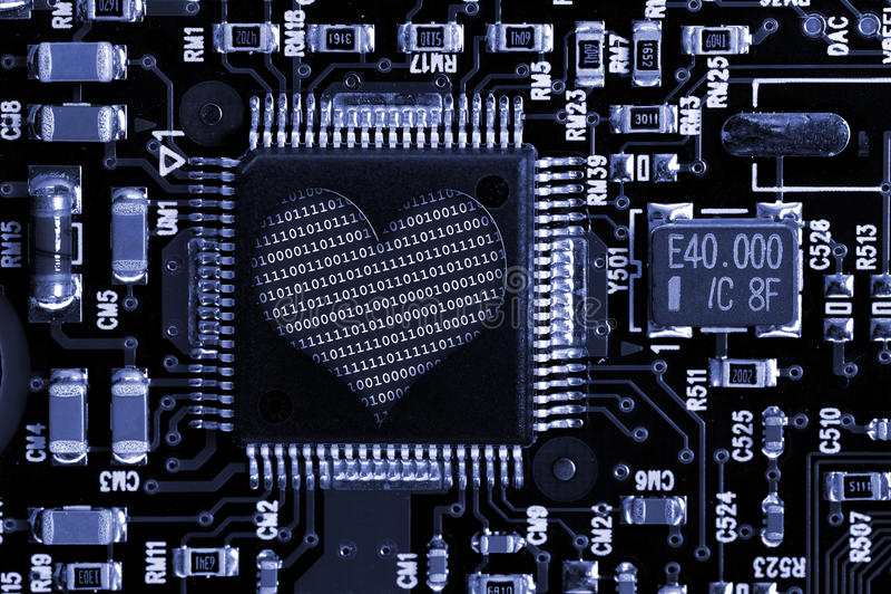 влюбленность электроники стоковое изображение