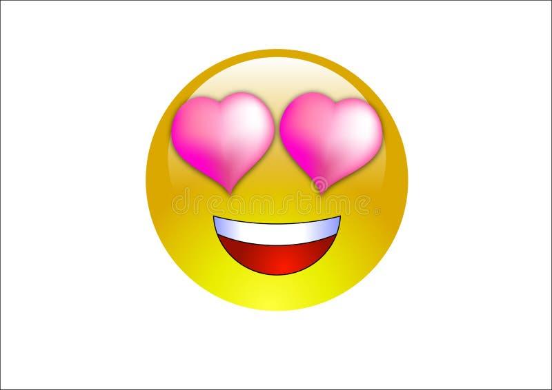 влюбленность emoticons aqua стоковая фотография