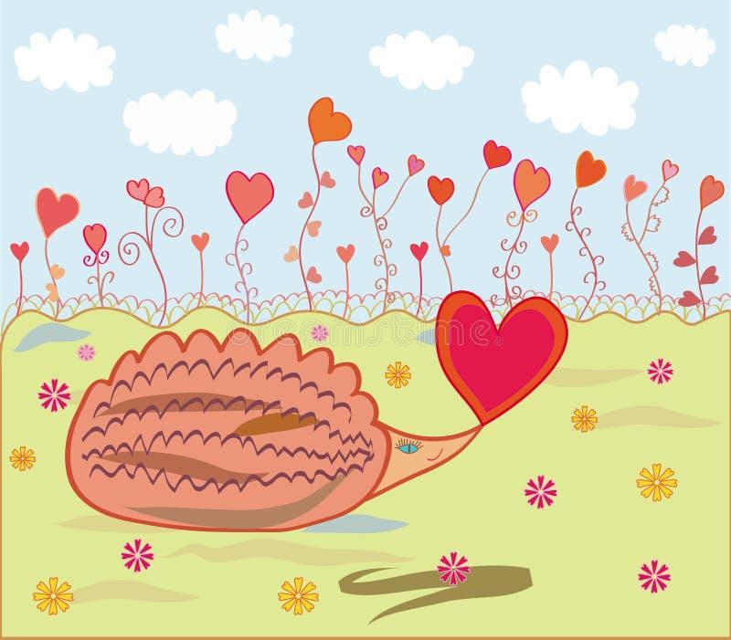влюбленность hedgehog иллюстрация штока