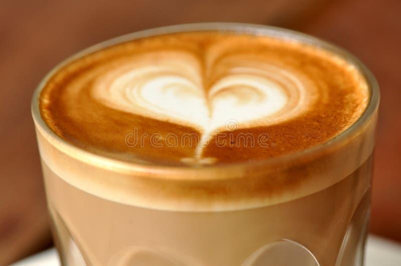 влюбленность latte i стоковая фотография rf