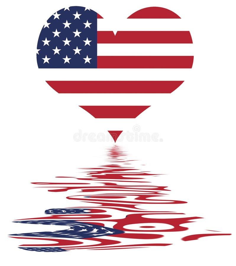 влюбленность r флага мы США иллюстрация штока