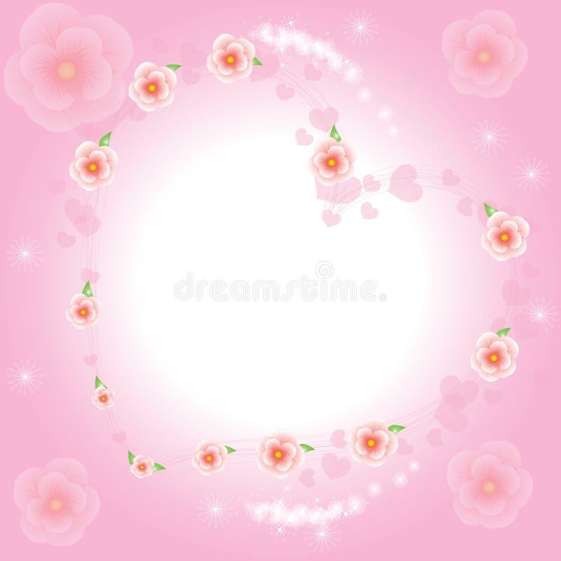 влюбленность sakura иллюстрация штока