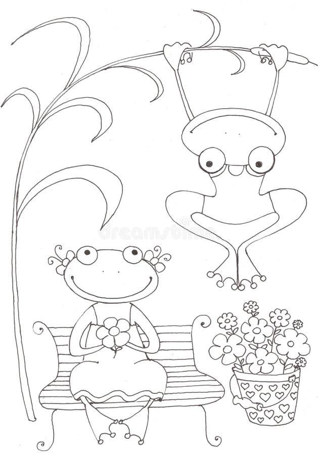 2 влюбленныхся лягушки стоковые изображения