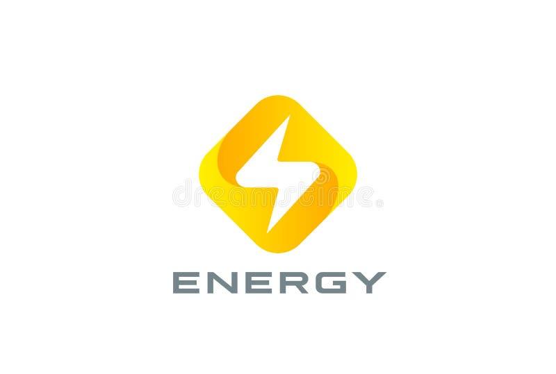 Внезапная сила энергии символа Thunderbolt дизайна логотипа бесплатная иллюстрация