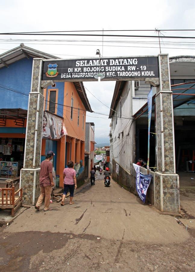 Внезапное наводнение бедствия Индонезии - Garut 001 стоковое изображение