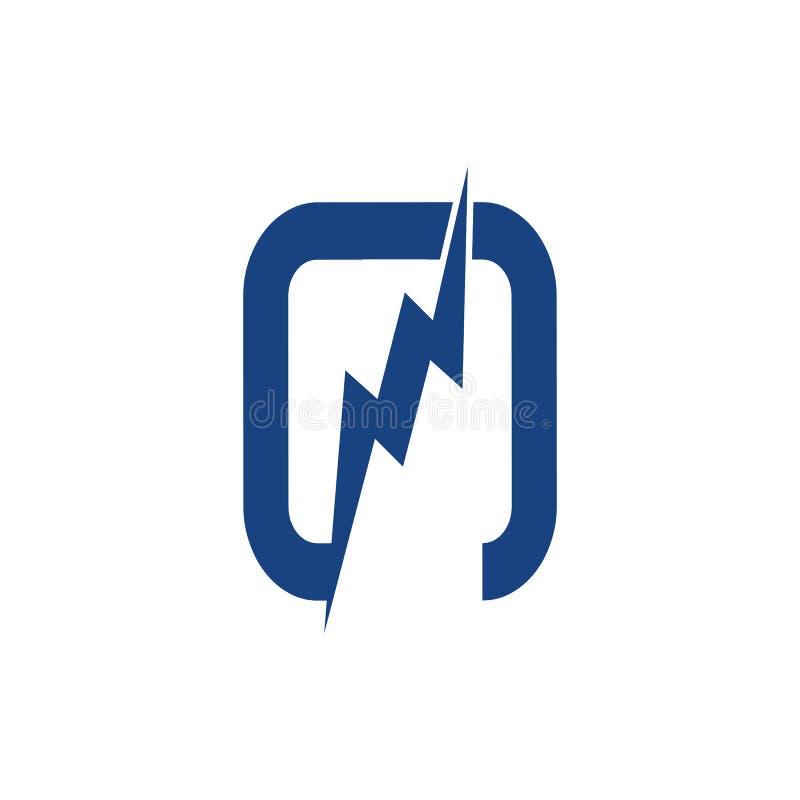 Внезапный шаблон вектора дизайна косоугольника логотипа Бесконечная сила энергии иллюстрация вектора
