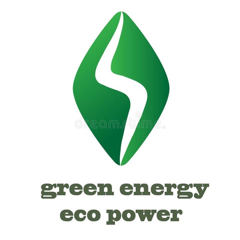 Внезапный шаблон вектора дизайна логотипа Символ Thunderbolt Зеленое Ene иллюстрация вектора
