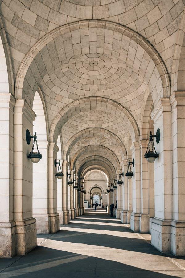 Внешние своды станции соединения, в Вашингтоне, DC стоковая фотография