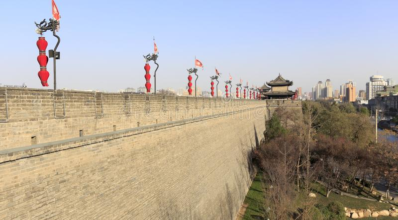 Внешние стены древнего города XI `, самана rgb стоковые фотографии rf