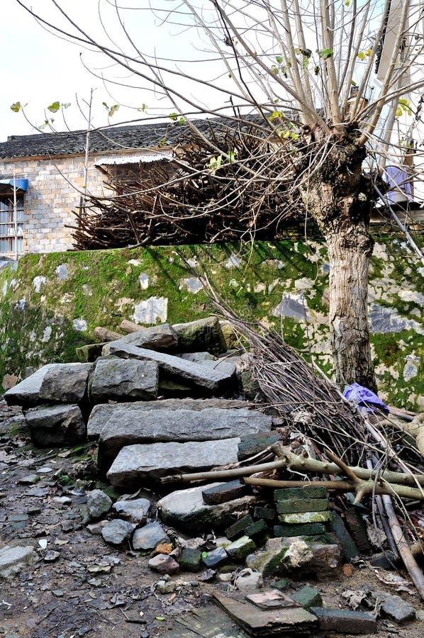 Внешние стены старой стоковое фото rf