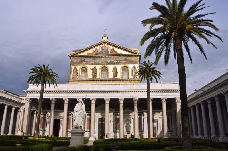 внешние стены st Паыля rome стоковое изображение rf