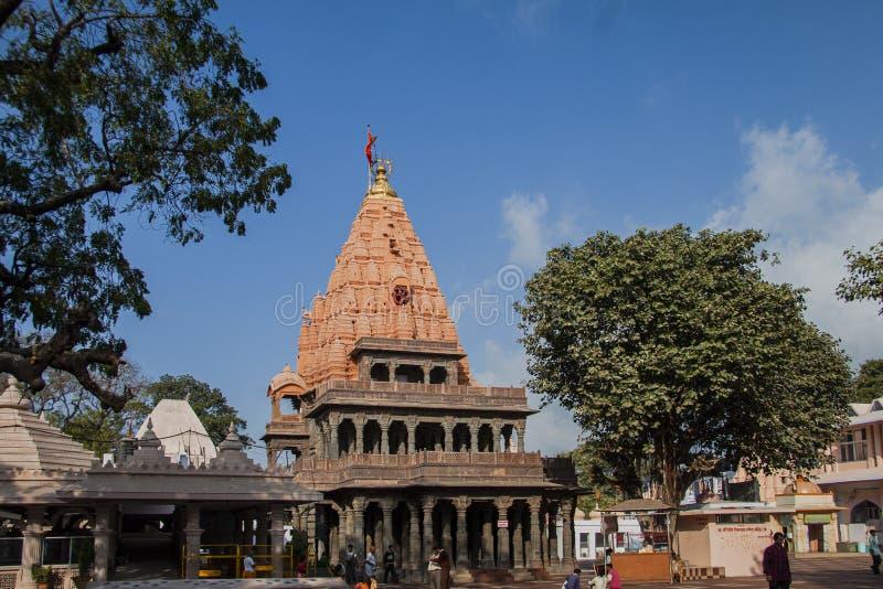 Внешний взгляд виска Mahakaleshwar, Ujjain, Madhya Pradesh, Индии, Азии стоковое фото