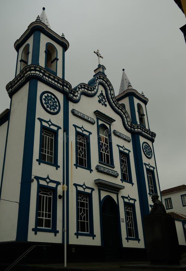 Внешний взгляд к церков святого Христоса, Прая da Vitoria, terceira, Португалия стоковое изображение rf
