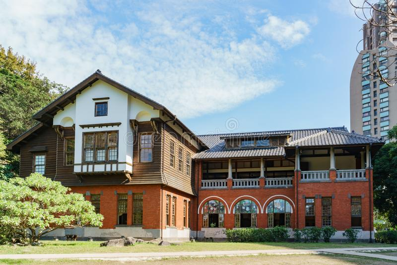 Внешний взгляд музея горячего источника Beitou стоковые изображения