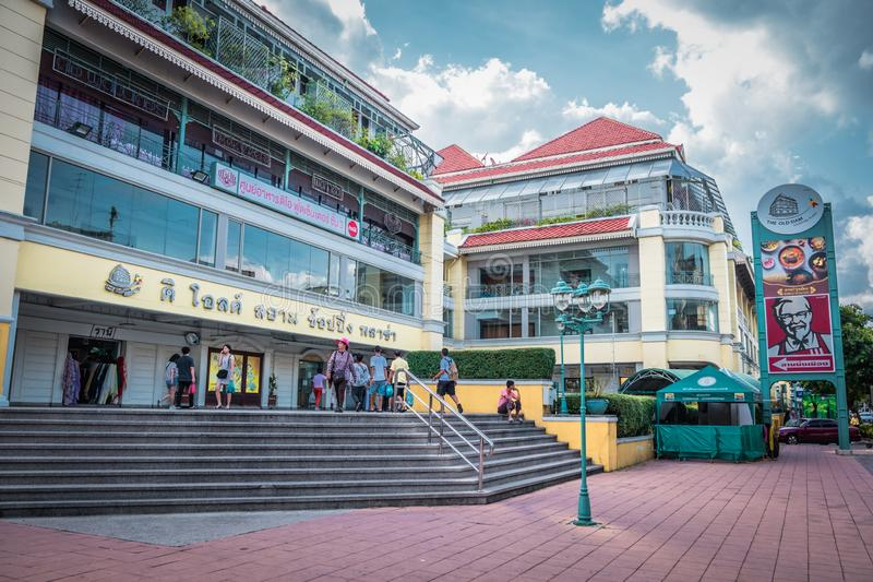 Внешний взгляд старого торгового центра площади Сиама в Бангкоке, Таиланде стоковое изображение rf