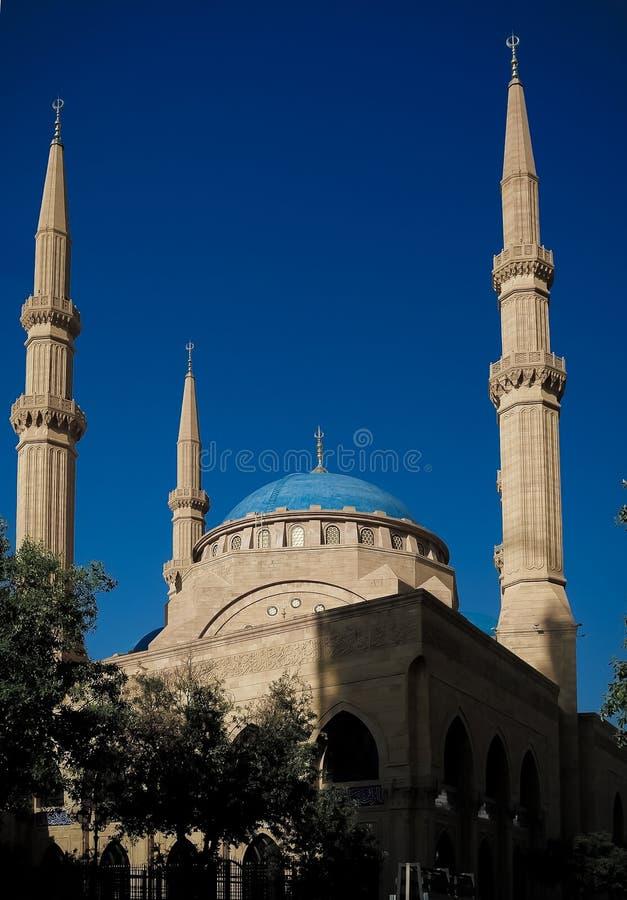 Внешний взгляд к мечети Mohammad Al-Amin, Бейруту, Ливану стоковое фото rf