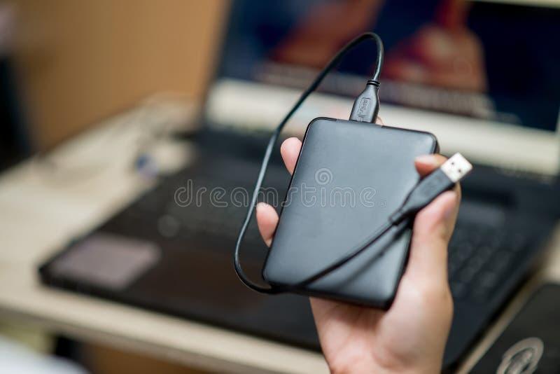 Внешний жесткий диск для подпорки стоковые фото