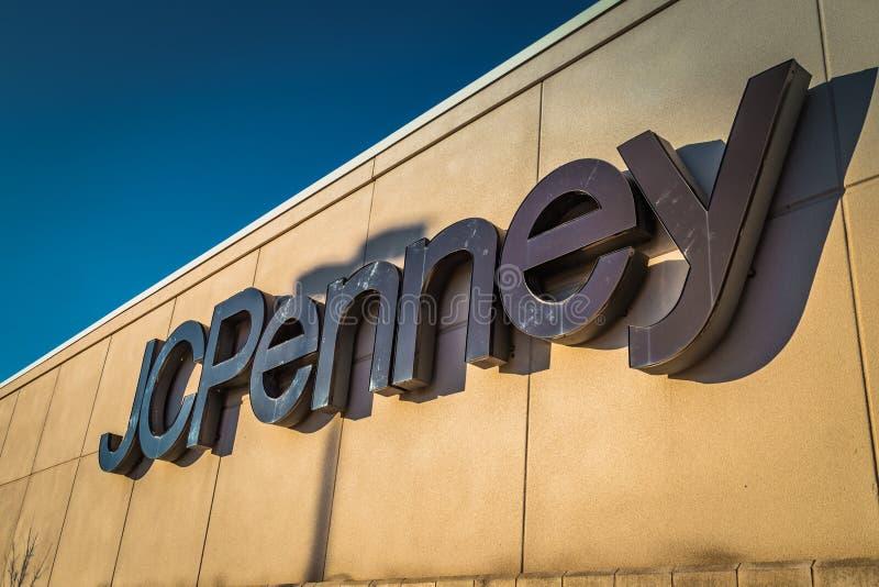 Внешний знак универмага JC Penny стоковое фото