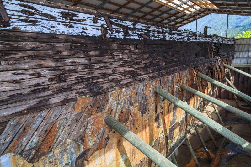 Внешний корпус ` Fox Эдвина ` торгового судна 1850s стоковое фото