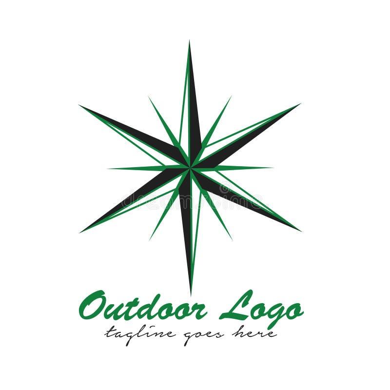 Внешний логотип вектора стоковое фото