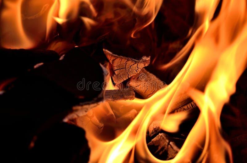 Внешний огонь BBQ стоковое фото