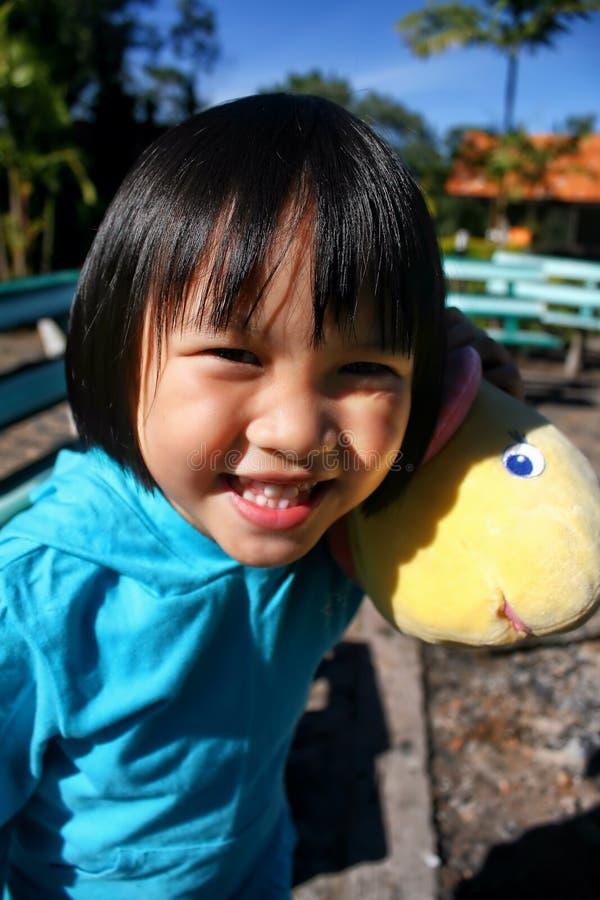 Внешний портрет красивой азиатской девушки стоковые изображения