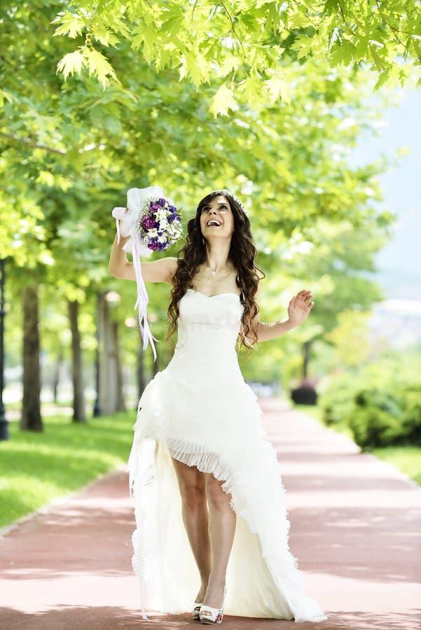 Download Внешний усмехаться невесты стоковое изображение. изображение насчитывающей волосы - 41660027