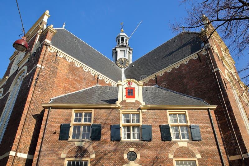 Внешний фасад церков Noorderkerk на квадрате Noordermarkt, Jordaan, Амстердаме стоковая фотография
