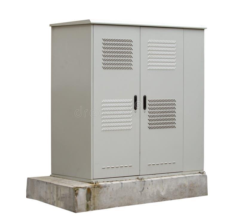 Внешний шкаф для электротехнического оборудования стоковое изображение