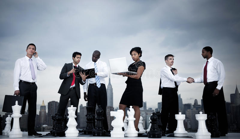 Внешняя деловая встреча в Нью-Йорке стоковые изображения rf