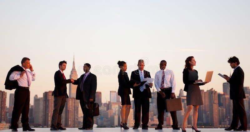 Внешняя концепция Нью-Йорка деловой встречи стоковое фото rf