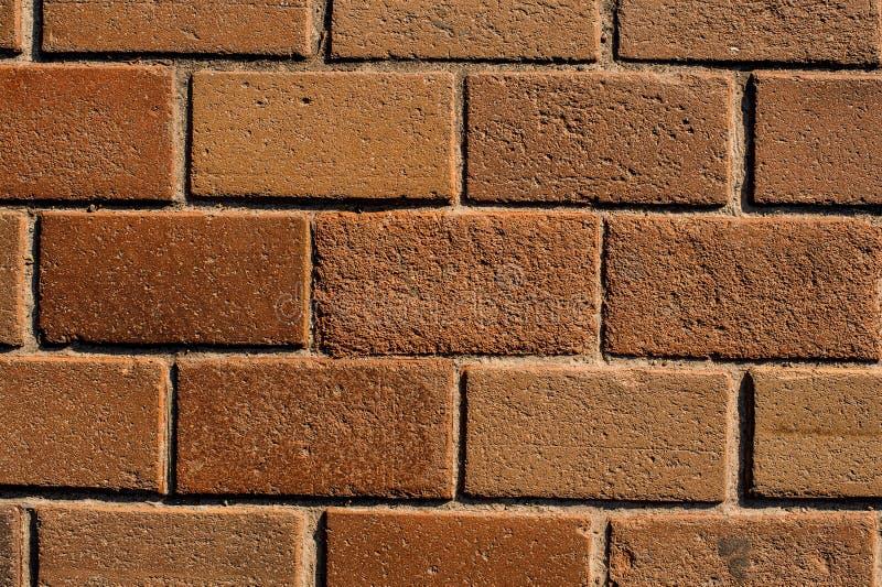 Внешняя коричневая кирпичная стена с линиями бетона стоковые изображения