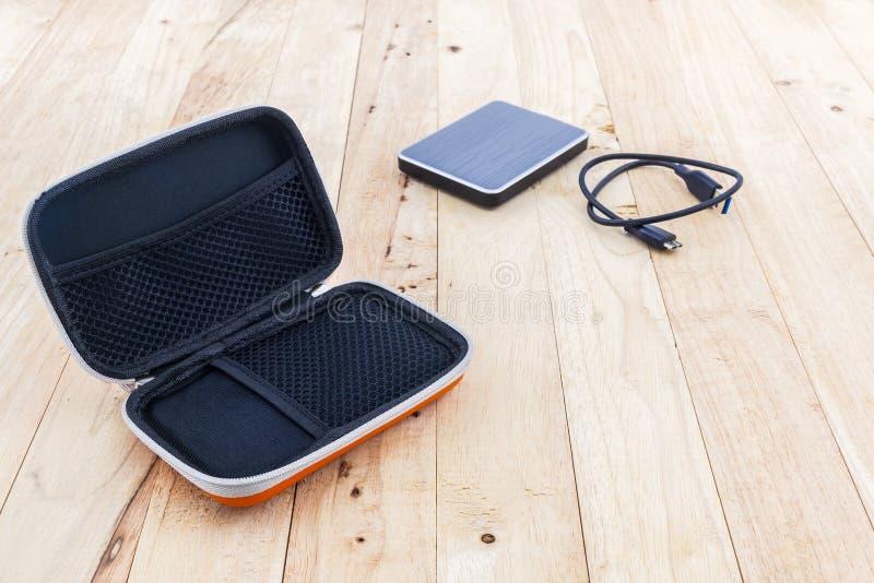 Внешняя переносная сумка жесткого диска Сумки для внешнего жесткого диска стоковое фото rf