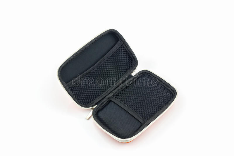Внешняя переносная сумка жесткого диска Сумки для внешнего жесткого диска стоковая фотография rf