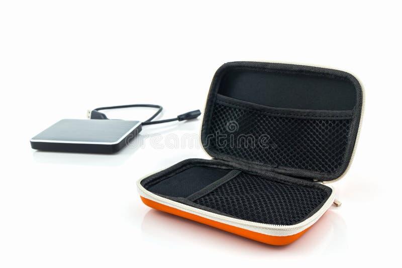 Внешняя переносная сумка жесткого диска Сумки для внешнего жесткого диска стоковая фотография