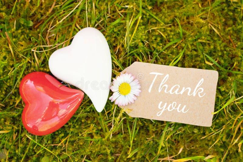 Внешняя поздравительная открытка - спасибо стоковое изображение rf