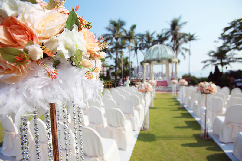 Внешняя свадьба стоковые фотографии rf