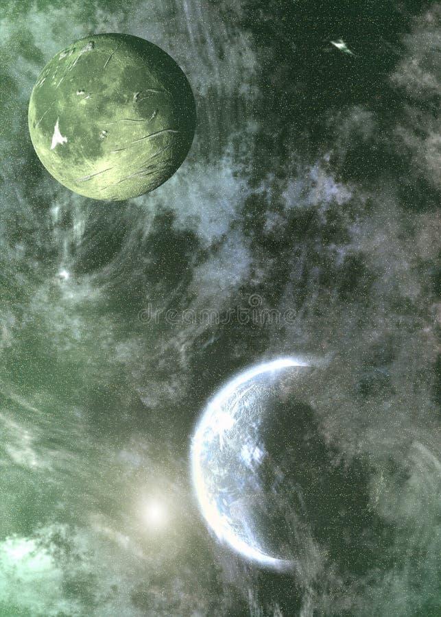 вне космос стоковое изображение rf